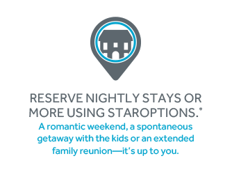 Reserve Nightly Stays or More Using Staroptions