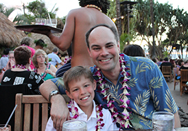Owner Adam S. and son