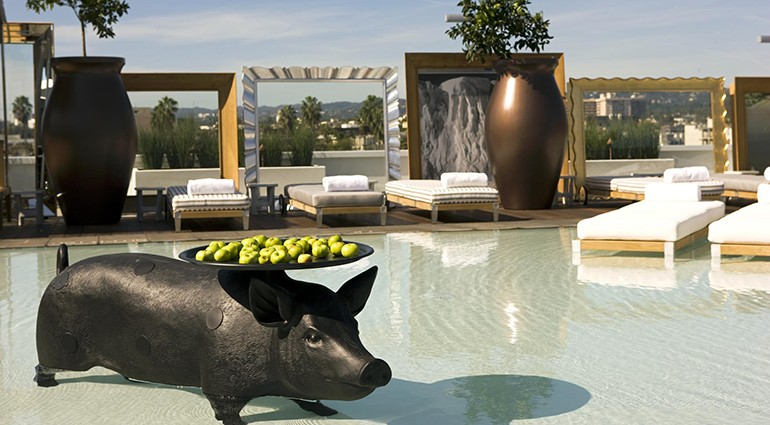 Best Hotel Pools: SLS Beverly Hills