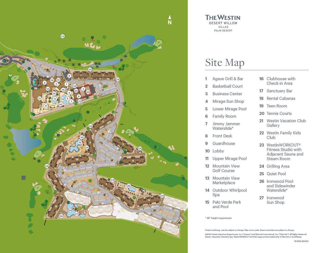 The Westin Desert Willow Villas Palm Desert Maps