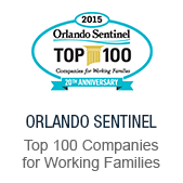 Accolades: Orlando Sentinel, Top 100 Companies for Working Family