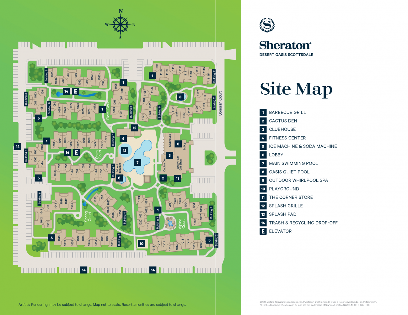 Sheraton Desert Oasis Resort Map