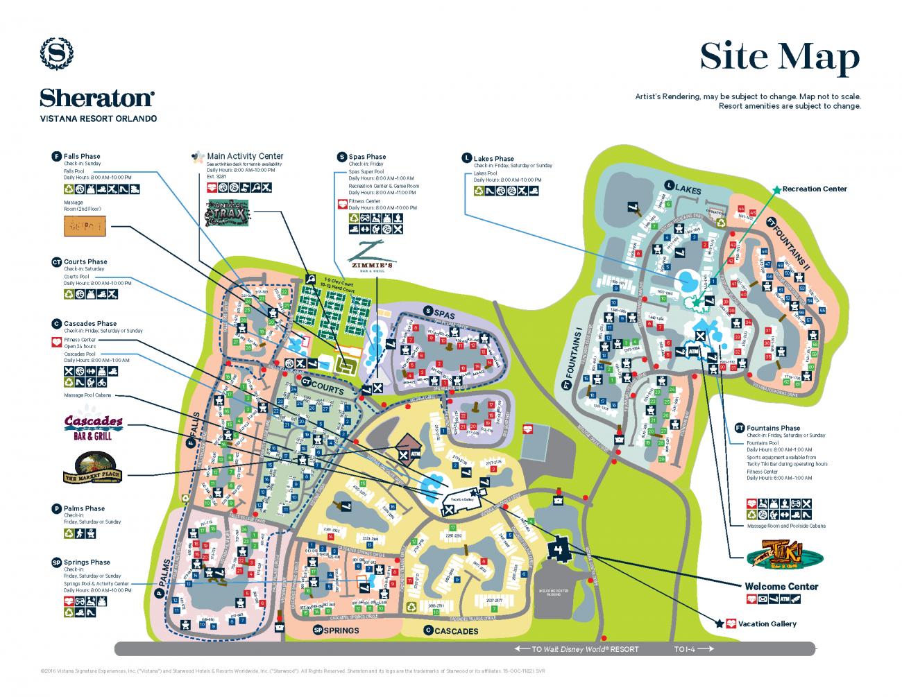 Sheraton Vistana Resort Maps