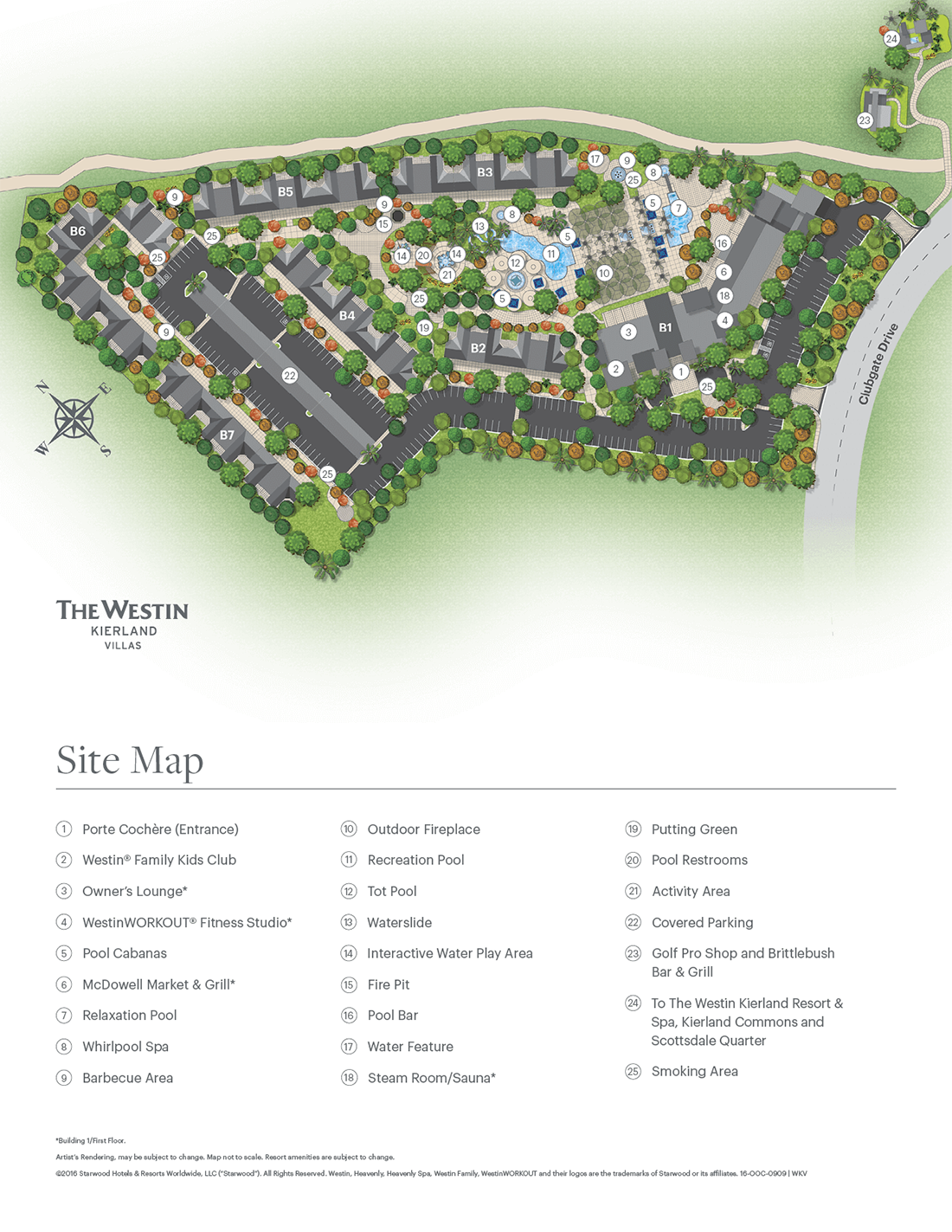 The Westin Kierland Villas Resort Map