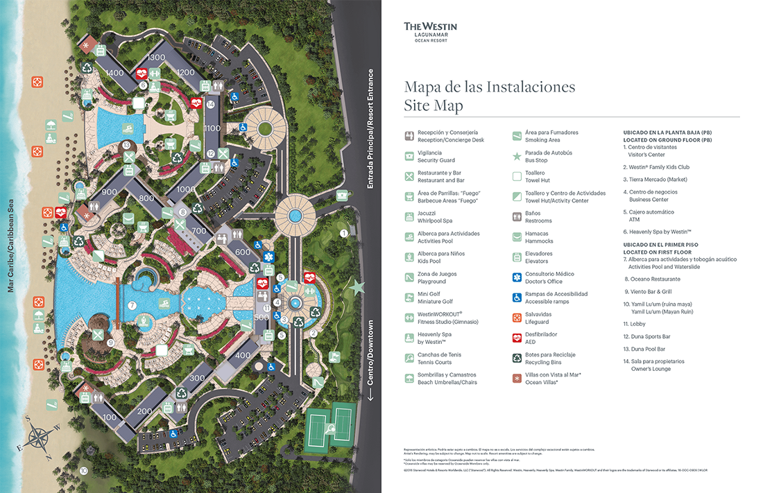 The Westin Lagunamar Ocean Resort Resort Map