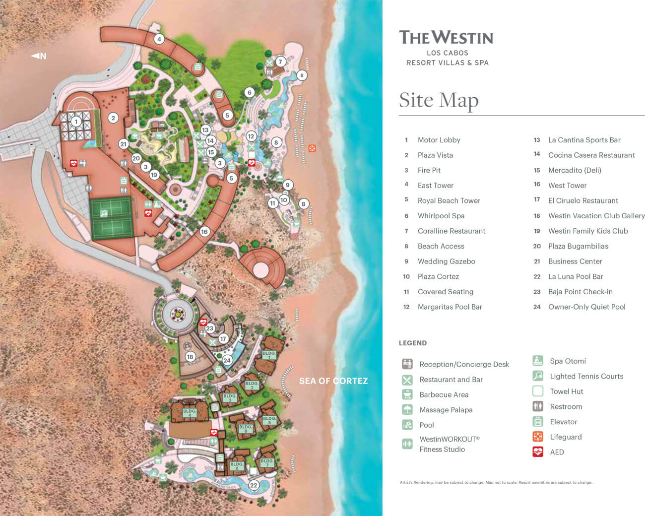 The Westin Los Cabos Resort Villas & Spa Resort Map