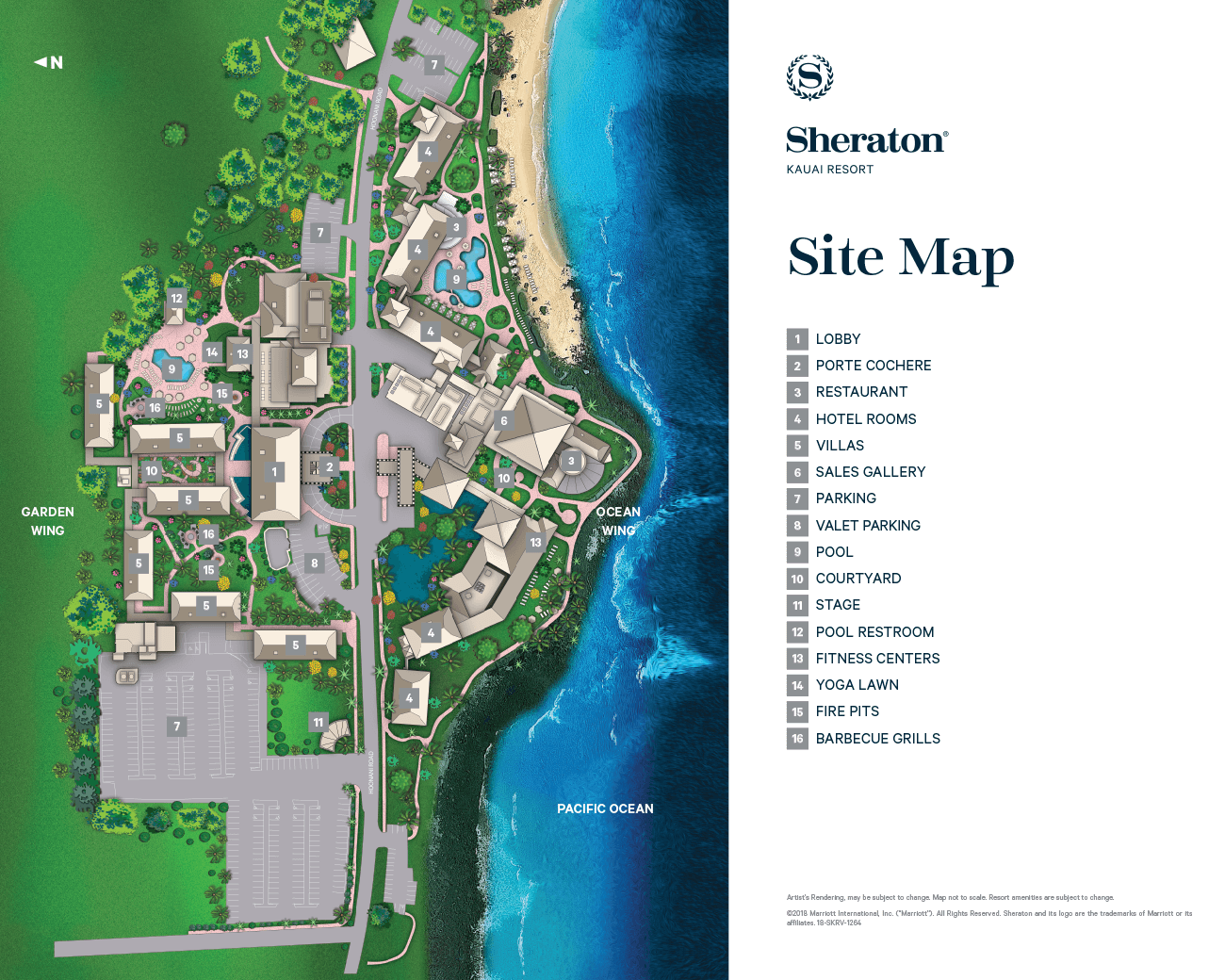 Sheraton Kaua'i Resort Villas Resort Map