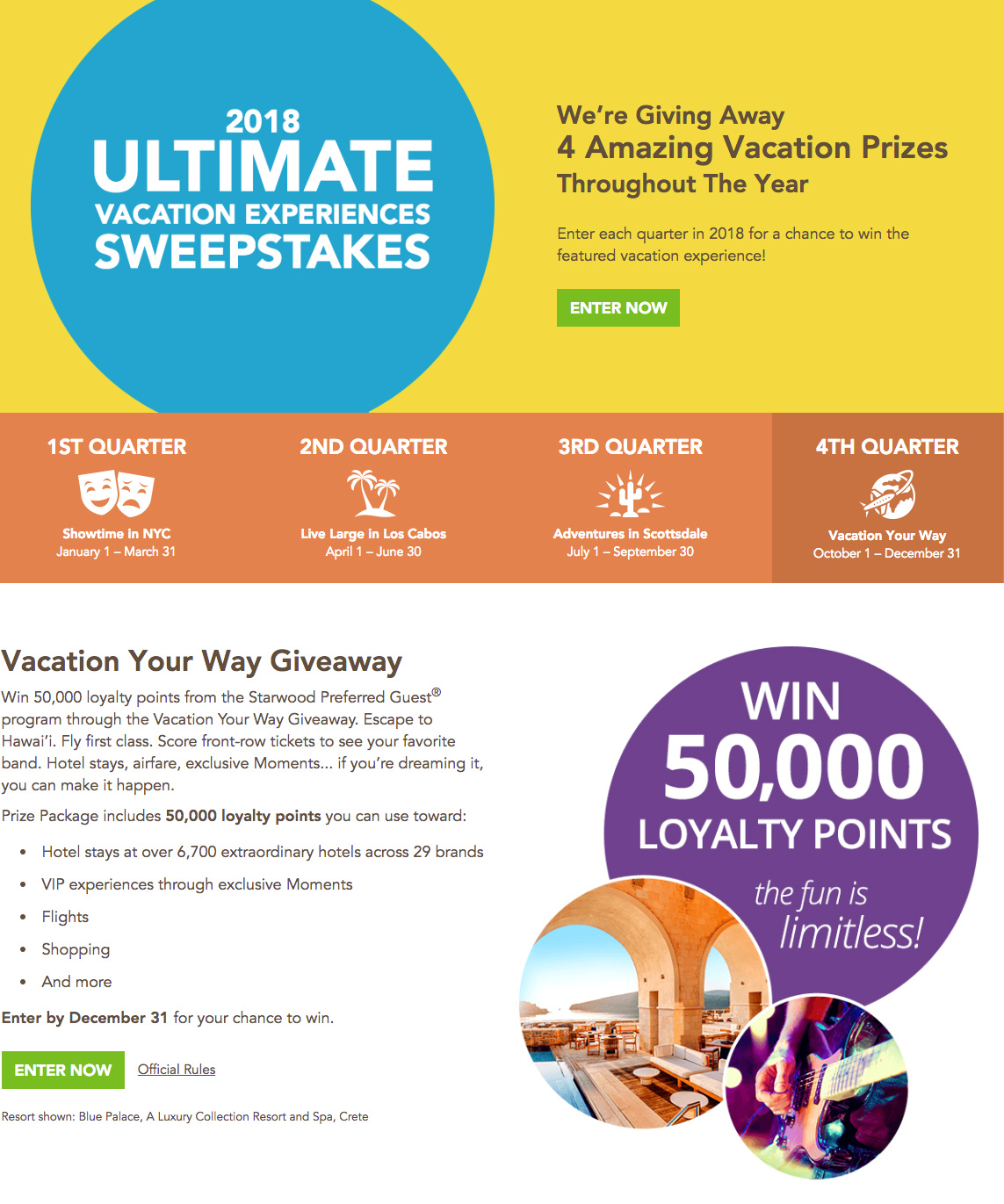 Ultimate Vacation Experiences Sweepstakes 2018 | Vistana™ Signature