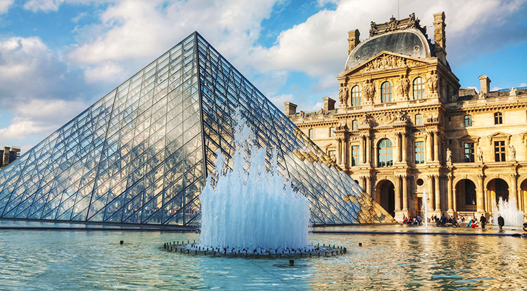 The Louvre Museum in Paris