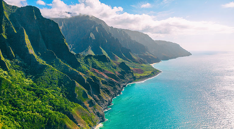 Sweeping Napali Coast views