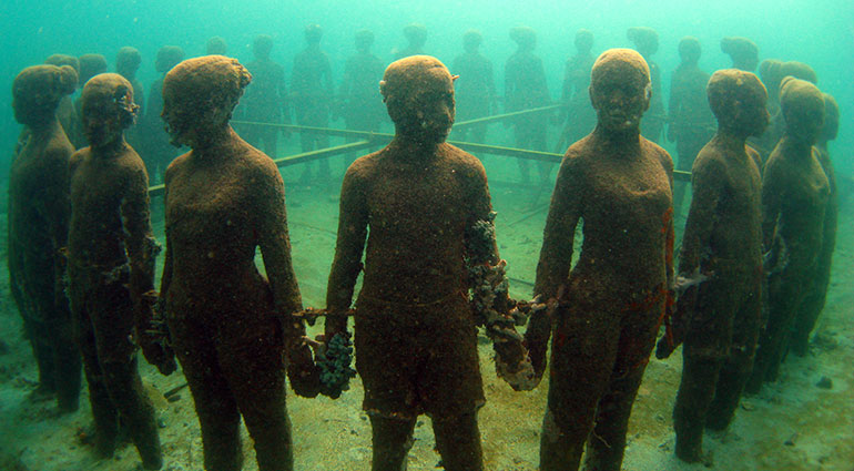 MUSA, the Underwater Museum of Art, in Cancún